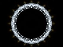 Ironwax frame 2. Illustrated abstract round detailed frame Royalty Free Stock Image