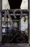 Ironwork with cast iron. Detail of industry and manufacture royalty free stock photos