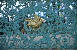 Ironwork Detail Background. Detail of ironwork on a bandstand in Brussels, Belgium royalty free stock image