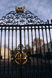 Ironworked gates Royal Navel College Royalty Free Stock Photos