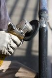 Ironworker Grinding Welds Stock Images