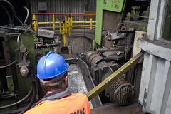 Ironworks. Rolling in ironworks, production line Stock Photo