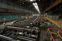 Ironworks. Rolling in ironworks, production line Stock Image