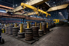 Ironworks. Rolling in ironworks, production line Stock Photography