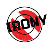 Irony rubber stamp Stock Image