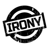 Irony rubber stamp Royalty Free Stock Images
