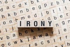 Free Irony Word Concept Royalty Free Stock Photos - 146043548