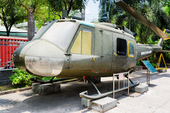 Iroquois de Bell UH-1 d'hélicoptère dans des restes musée, Vietnam de guerre Photos libres de droits
