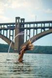 Iroquois hors de l'eau Images libres de droits