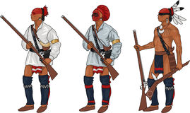 3 Iroquois Warriors Royalty Free Stock Photo