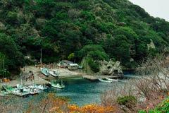 Irozaki海角的港口在冬天 库存图片