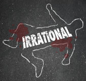 Irracjonalistycznego osoby kredy konturu Szalenie decyzi Zły trup Fotografia Royalty Free