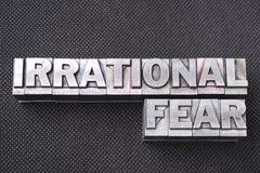 Irracjonalistycznego strachu bm zdjęcie royalty free