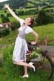 Irradia la gioia pura Fotografia Stock
