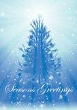 Irradia saludos del árbol de navidad Fotos de archivo libres de regalías