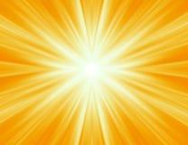 Irradiamento dei raggi gialli Fotografie Stock Libere da Diritti