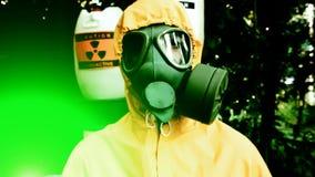 Irradiamento pericoloso video d archivio