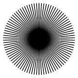 Irradiandosi, linee radiali Starburst, forma dello sprazzo di sole Ray, Li del fascio royalty illustrazione gratis