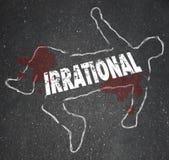 Irrationellt Person Chalk Outline Bad Foolish beslutslik stock illustrationer