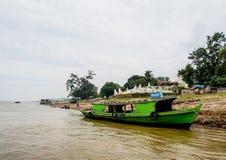 Irrawaddi rzeka w Mandalay, Myanmar Zdjęcia Royalty Free