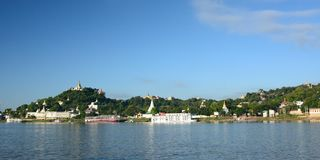 irrawaddy河 实皆 缅甸 免版税图库摄影