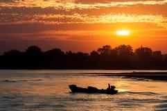 Irrawaddy flod Royaltyfria Bilder
