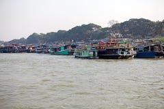 Irrawaddy flod Myanmar arkivfoto