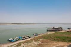 Irrawaddy Fluss stockfoto