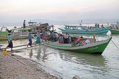 Irrawaddy-Fluss in Bagan, Myanmar Lizenzfreie Stockfotos