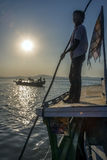 Irrawaddy Fluss- Myanmar Stockfotografie