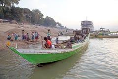 Irrawaddy river in Bagan, Myanmar Stock Images