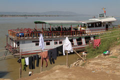 On Irrawaddy river banks Stock Images