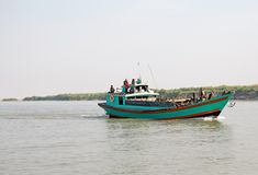 Irrawaddy river Myanmar Royalty Free Stock Photos