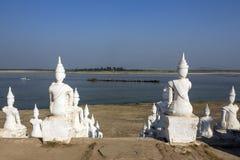 Irrawaddy rzeka przy Mingun, Myanmar - Obraz Royalty Free