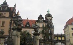 Irrealny, bajecznie piękno architektura miasto Drezdeński, fotografia royalty free