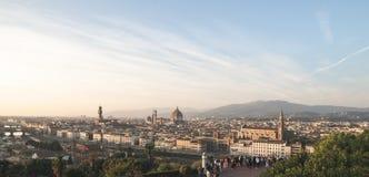 Irrealny panoramiczny krajobraz Florencja, Włochy z punktu widzenia miasta przy pięknym czasem dzień zdjęcie royalty free