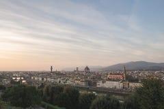 Irrealny panoramiczny krajobraz Florencja, Włochy z punktu widzenia miasta przy pięknym czasem dzień fotografia stock