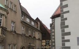 Irrealny piękno architektura miasto Niemcy Wschodnie fotografia royalty free