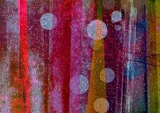 Irregolare artistico e strisce pendenti, strisce astratte, blocchetti strutturati di colore Fotografie Stock Libere da Diritti