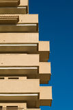 Irregular apartment building detail Stock Image
