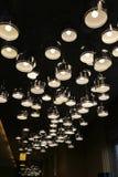 Irregular arrangement of aluminum cover LED lights Royalty Free Stock Photography
