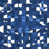 Abstract irregular blue and white squares mosaic. Irregular blue and white squares mosaic Royalty Free Illustration