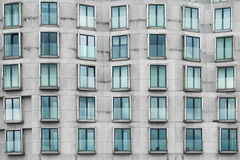 Irregular building facade , modern architecture exterior Royalty Free Stock Images