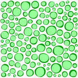 Irregular circles collection in green over white Royalty Free Stock Photography