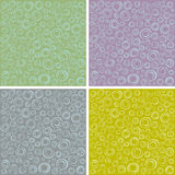 Irregular concentric circles pattern set in different colors Stock Images