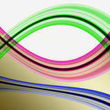 Irregular curved colored stripes Stock Photo