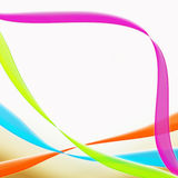Irregular curved colored stripes Royalty Free Stock Images