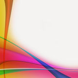 Irregular curved colored stripes Royalty Free Stock Photo