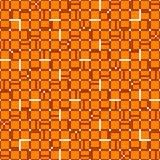 Irregular grid mesh with squares. Seamlessly repeatable duotone. Geometric pattern. - Royalty free vector illustration Stock Image
