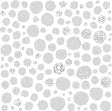 Irregular hatched circles collection in black over white Royalty Free Stock Photo